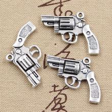 10pcs Charms pistol 29*22mm Hollow Antique,Zinc alloy pendant fit,Vintage Tibetan Silver,DIY for bracelet necklace