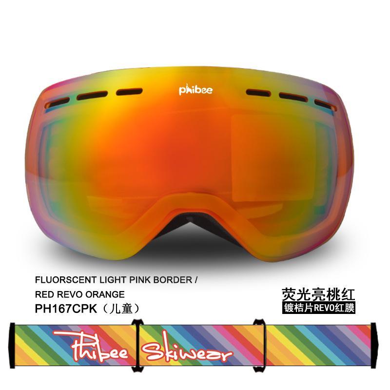 Большие двухслойные лыжные очки унисекс с сферическим покрытием, защита от ветра, защита глаз - 6