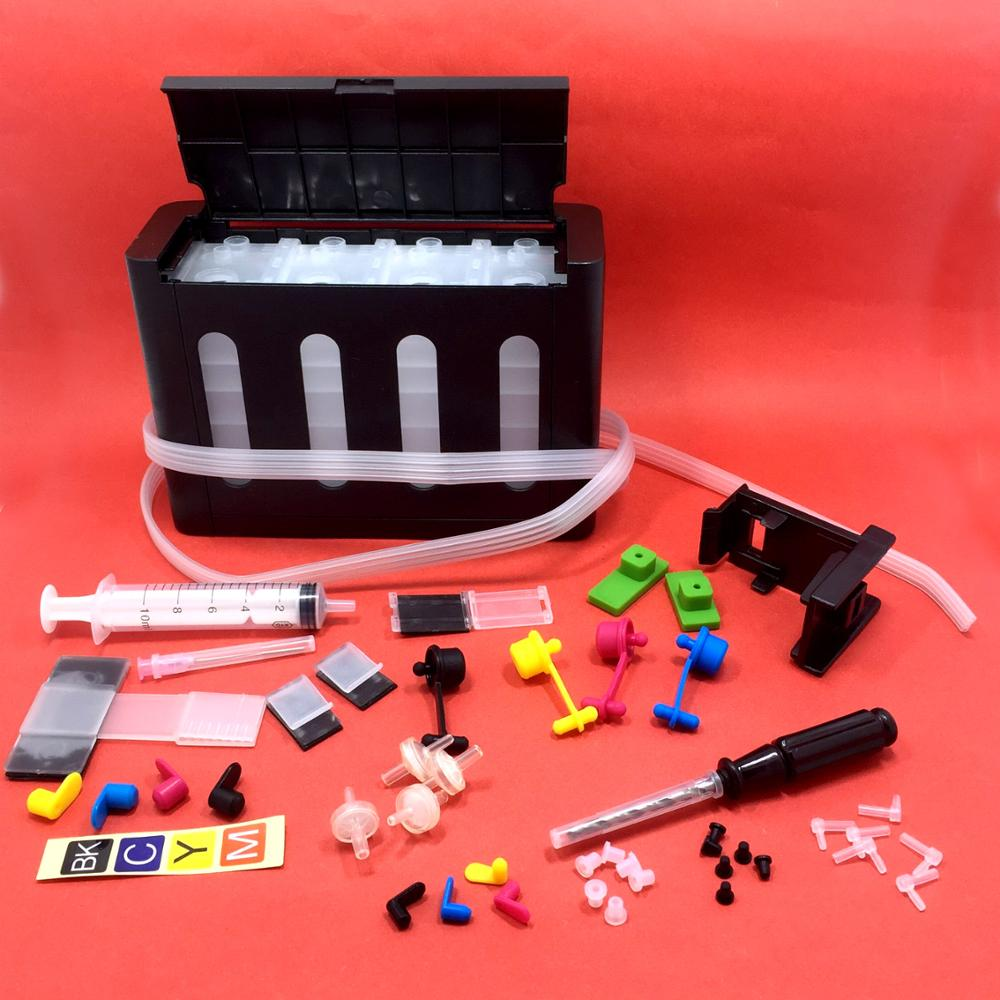 YOTAT Universal 4 Colors DIY CISS Kit With Accessories Compatible For HP 21 22 60 61 56 57 74 75 901 121 300 PG40 50