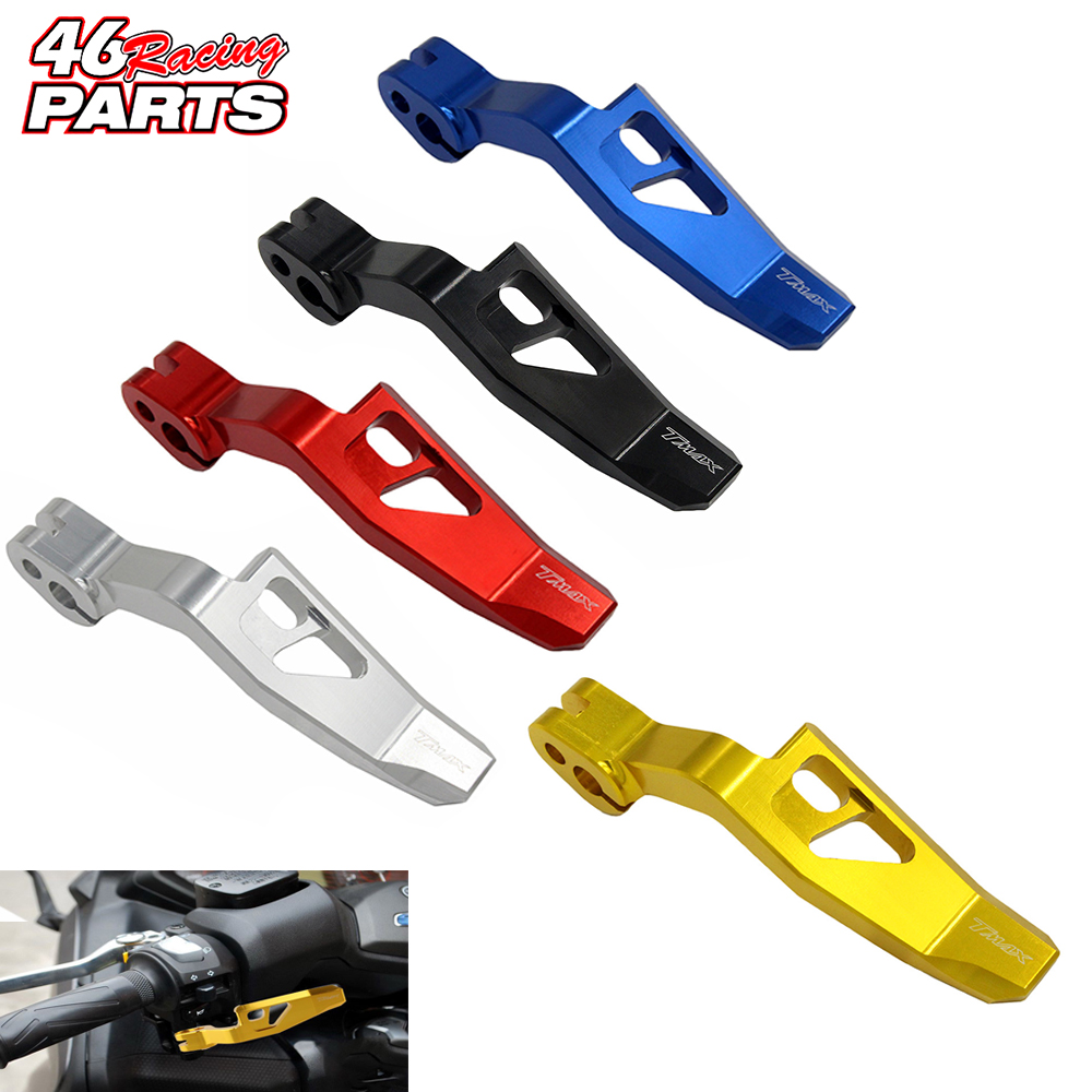 CNC Aluminum Motorcycle Parking Brake Lever For yamaha TMAX 530/500 T-MAX 530/500 XP530 TMAX530 TMAX500 VMAX 400 dl061 79 1 7 crystal topaz donolux