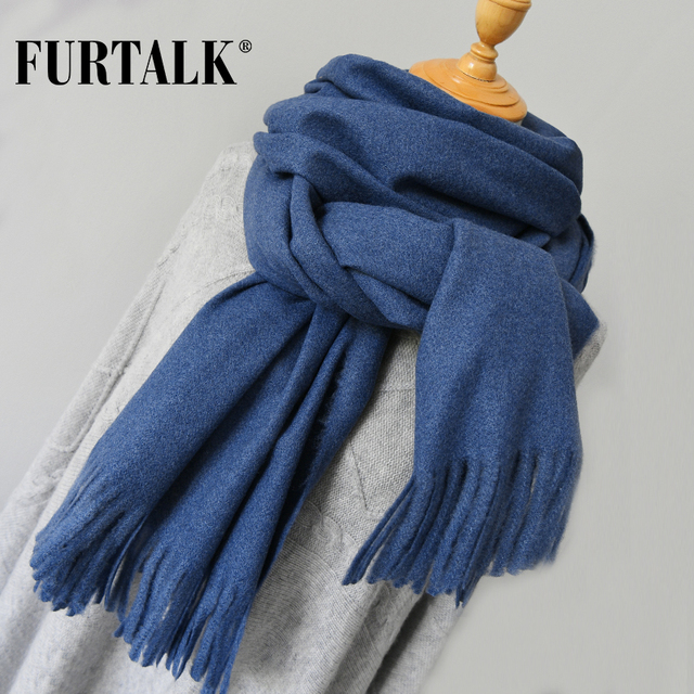 FURTALK women wool winter scarf cashmere poncho scarves luxury brand for girls SFFW006