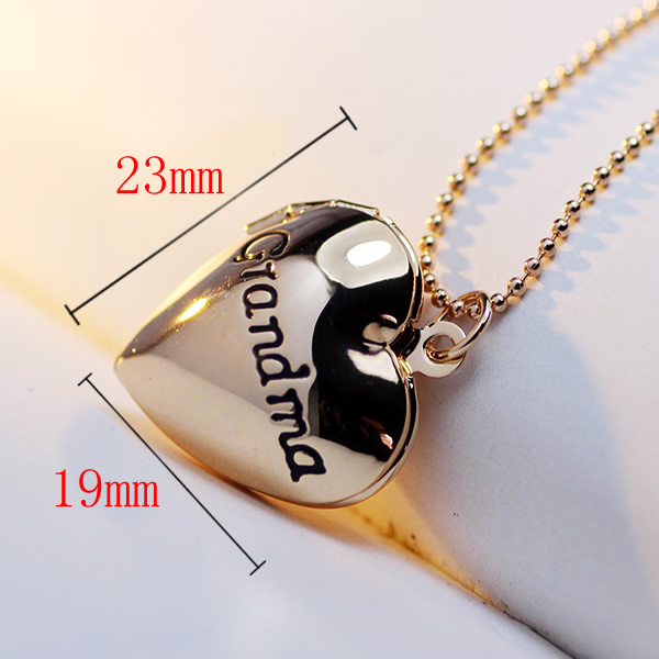 Charm Pendent Locket Necklace For Grandma 19