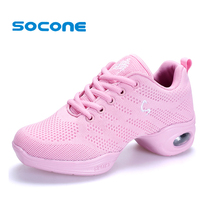 New 2017 Women Mesh Ballet Shoes Breathable Dance Sneakers Light Weight Women Ballroom Shoes Performance Jazz