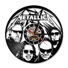 Metallica Vinyl Record Wall Clock, Handmade LED 7 Colors