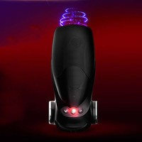 Vagina Real Pussy Blowjob Sex Toys for Man Automatic Telescopic Vibrating Massager USB Rechargeable Voice Masturbation Cup