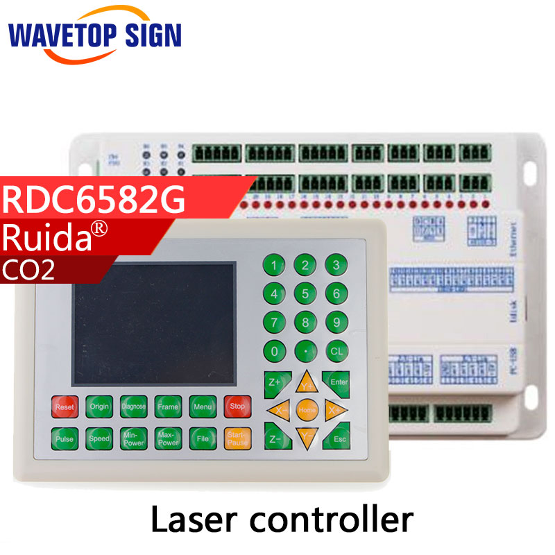 laser machine control card system RDC6582G support multi-laser heads(2-6pcs) move with each other 2017 latest co2 laser controller system rdc 6442g rd ruida motion control upgrade rd320