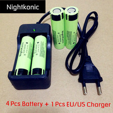 High Quality UltraPanic  10 X Original 18650 rechargeable Battery 3.7V li-ion flashlight