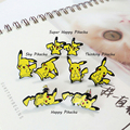 Pokemon Pikachu Stud Earring Yiwu Jewelry Accessories 2017 Orecchini for Kids Teenager Students fans Gifts