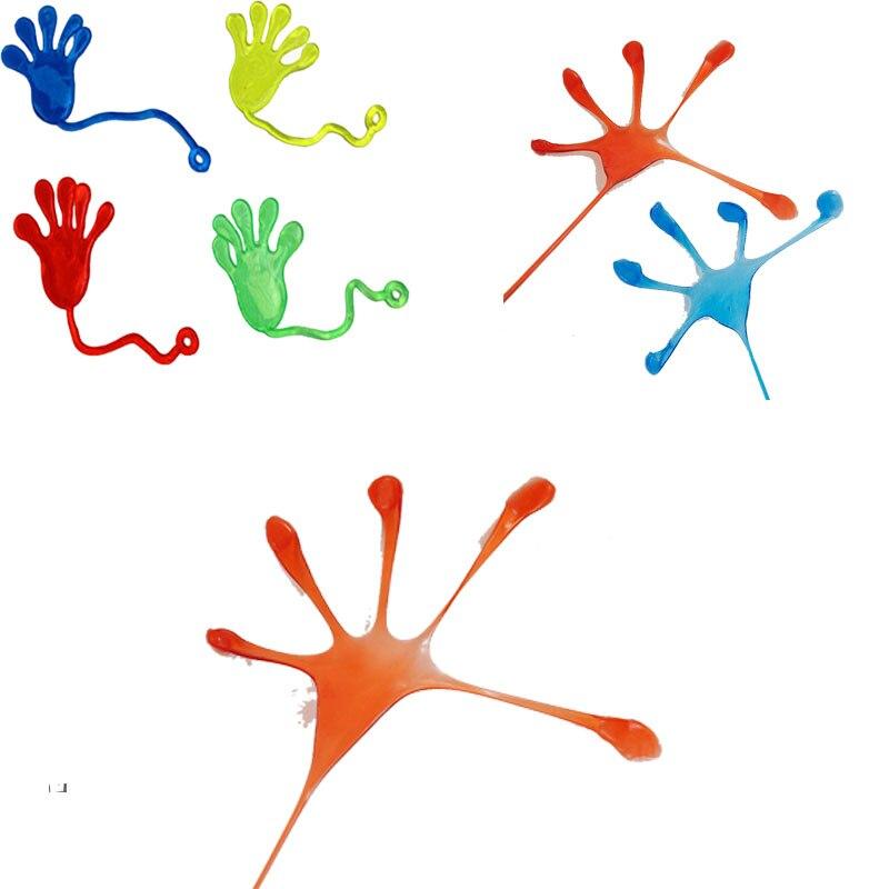 10Pcs Kids Party Supply Favors Multi-color Mini Sticky Jelly Stick Slap Squishy Sticky Hands Toys