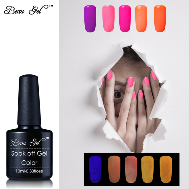 Beauty Beau Gel 24pcs/lot Luminous Nail Gel Varnish UV Gel Nail ...