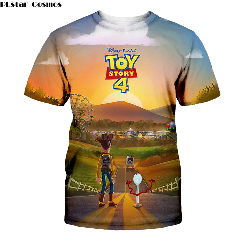 Disney Pixar Toy Story Buzz Woody Carnival Poster Funny Boys Youth Tee T-Shirt