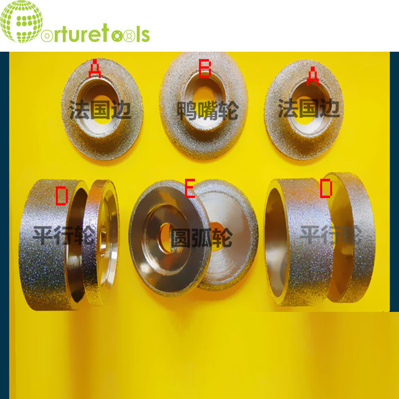 1 piece electroplated diamond grinding wheels of ABDE types customized grinding wheel 80mm diameter hole 20mm DD64 1piece electroplated diamond grinding wheel dia 65mm hole 22mm for round and straight 3 12mm glass edge tz74