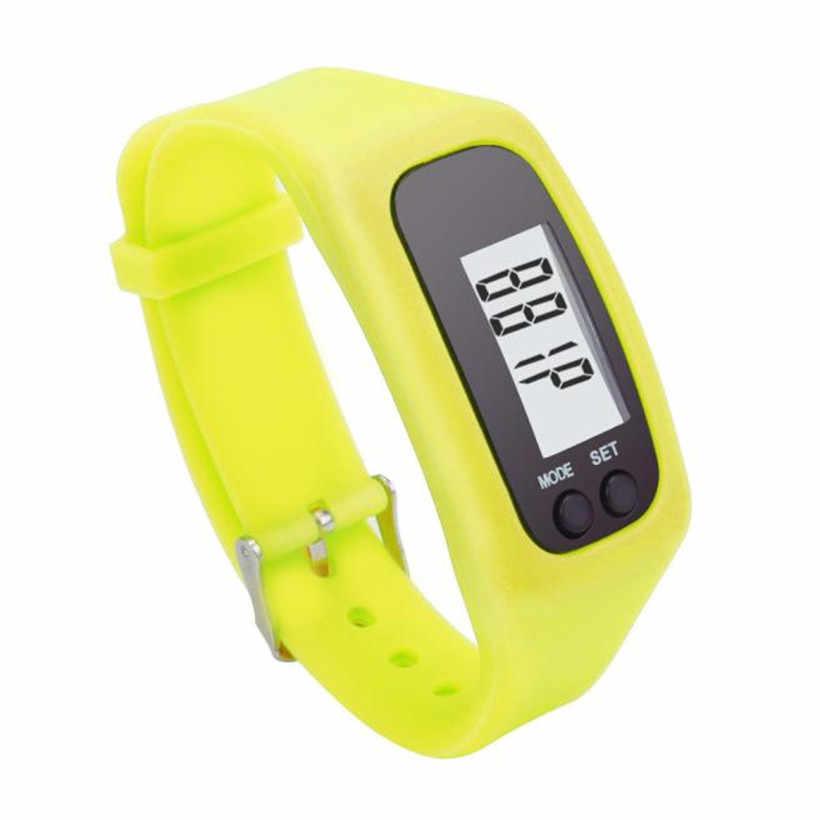 Цифровой ЖК-дисплей шагомер бег шаг ходьбы Счетчик калорий Часы браслет 34 #