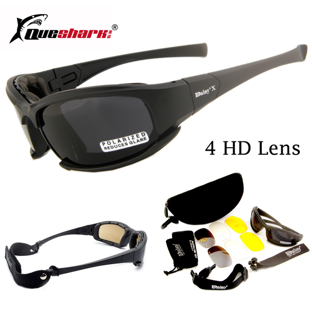 e14d1e0415e Daisy X7 Camouflage Goggles 4LS Men Military Polarized Sunglasses  Bullet-proof Airsoft Shooting Motorcycle Cycling