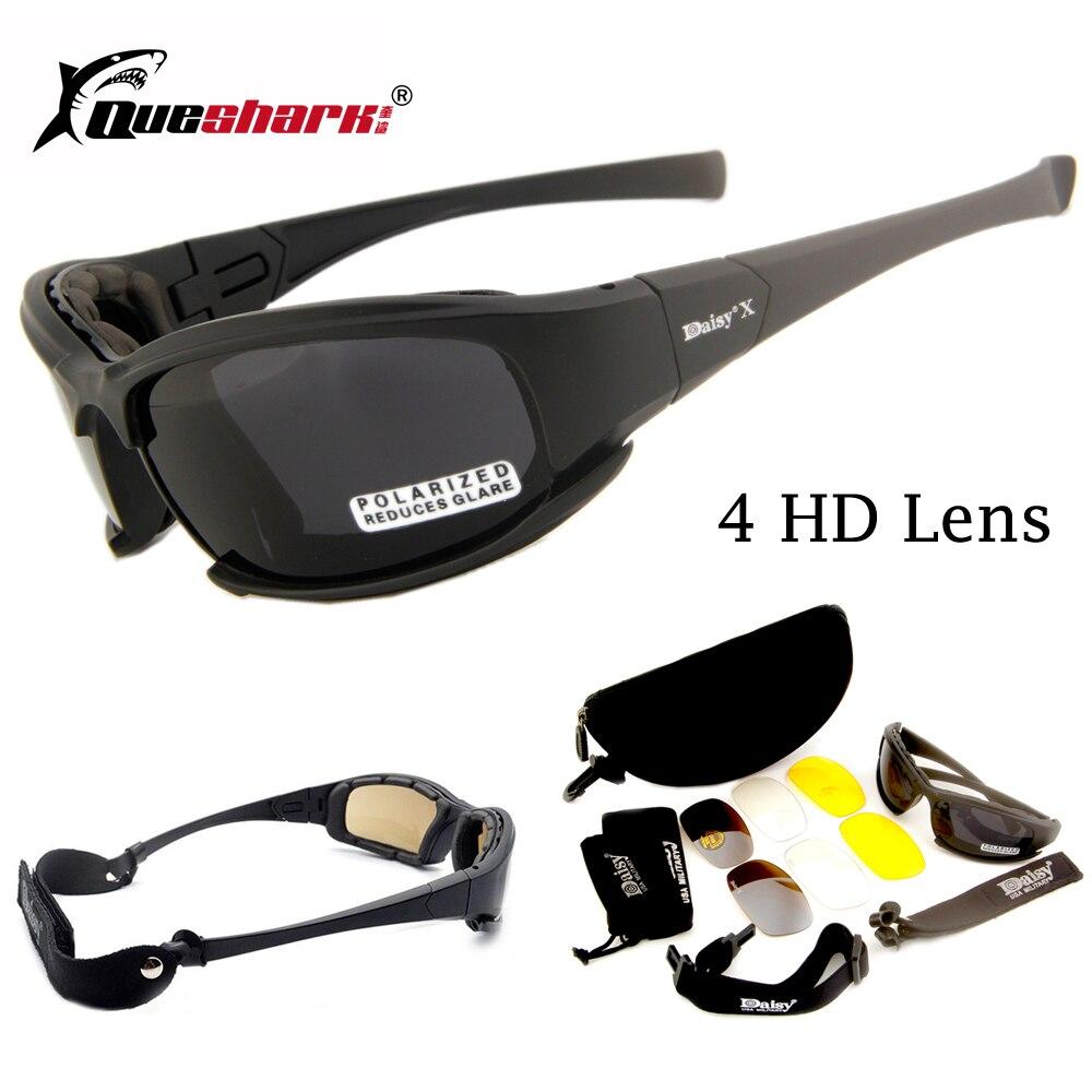 Margarita X7 camuflaje gafas 4LS hombres polarizada gafas de sol a prueba de balas Airsoft Shooting motocicleta ciclismo gafas