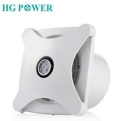 Extractor de aire para baño de 6 , montaje en techo/pared, con iluminación LED, ventilador con conducto de aire para garaje de casa, ventilación silenciosa, ventiladores de 220V/110V