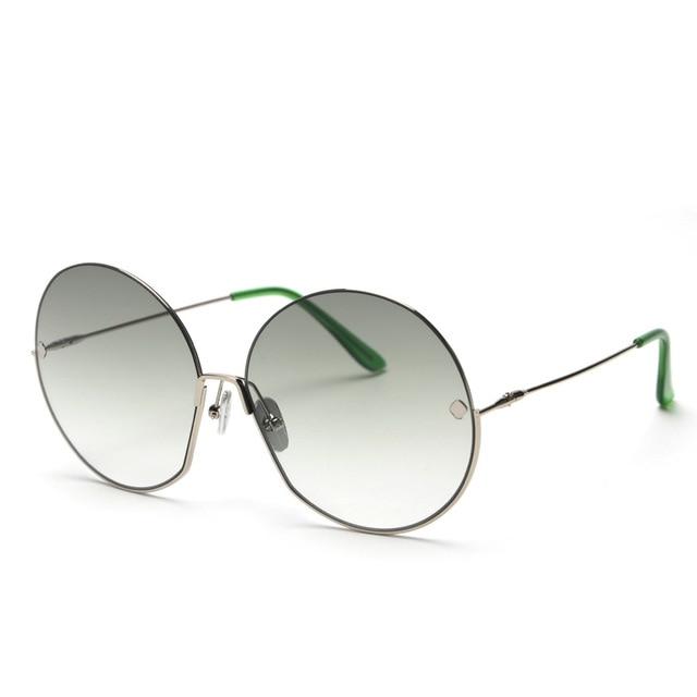 JackJad Fashion Oversized Round Metal Frame Rivets Sunglasses Women Semi-Rimless Brand Design Sun Glasses Oculos De Sol S31028 2