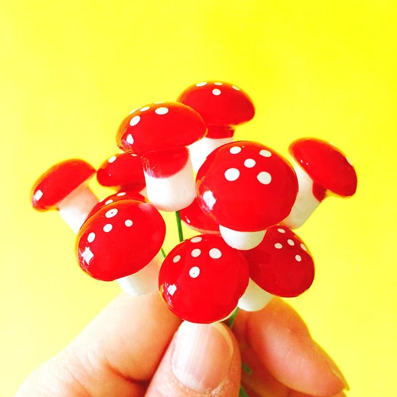 20Pcs/mushrooms/fairy garden gnome/moss terrarium home decor/crafts/bonsai/bottle garden/miniatures/home table decor/L020-L026
