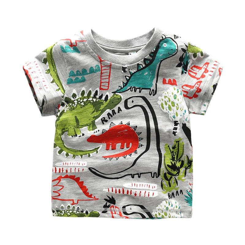 Dinosaur World 66 X 54 Lined Curtains Tie Backs: High Quality Brand Summer Boys Girls Short Sleeve T Shirt