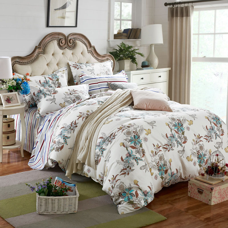 2017 Hot Sale Home Textile 3/4pc Bedding Sets Size For