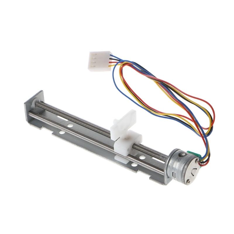 DC 4-9V Drive Stepper Motor Screw with Nut Slider 2 Phase 4 Wire for Laser Engraving W715 dc 4 9v drive stepper motor screw with nut slider 2 phase 4 wire micro sliding table fit for laser engraving machine
