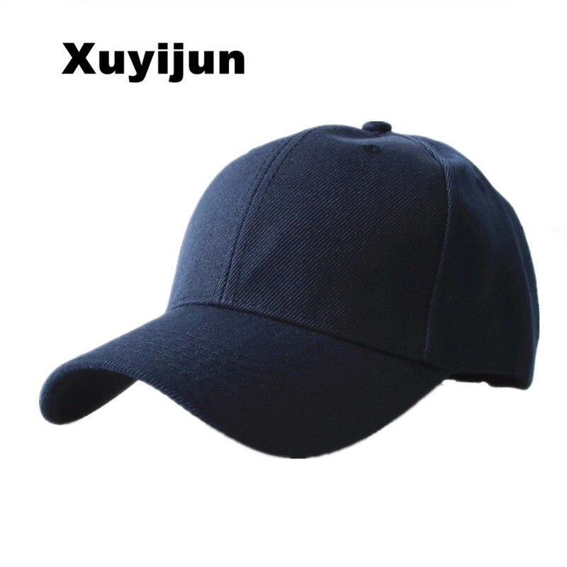 Cool Gadgets Xuyijun Durable 2018 New Masculino Snapback Casquette Gorras Blank Curved Solid Color Adjustable Baseball Cap Bone dad Caps