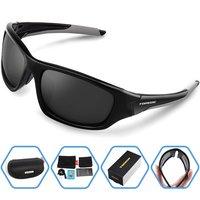Men Summer Outdoor Polarized Sports Sunglasses For Running Fishing Golf TR90 Unbreakable Frame Fashion Sport Eyewear