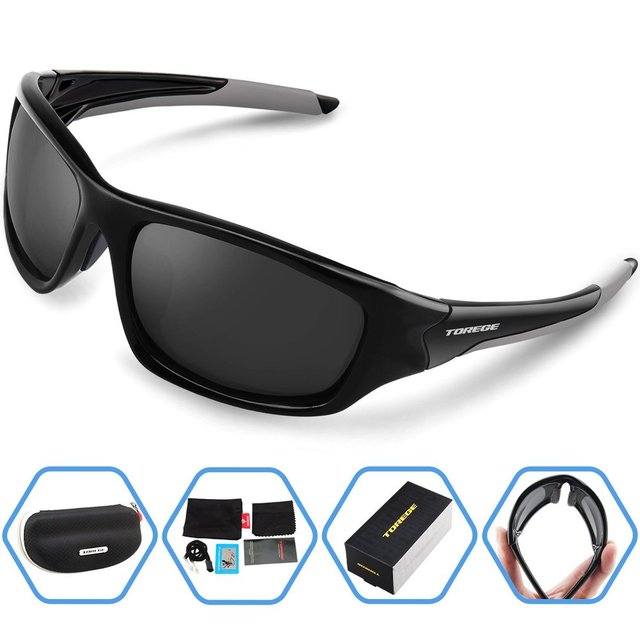 Men Summer Outdoor Polarized Sports Sunglasses For Running Fishing Golf TR90 Unbreakable Frame Fashion Sport Eyewear
