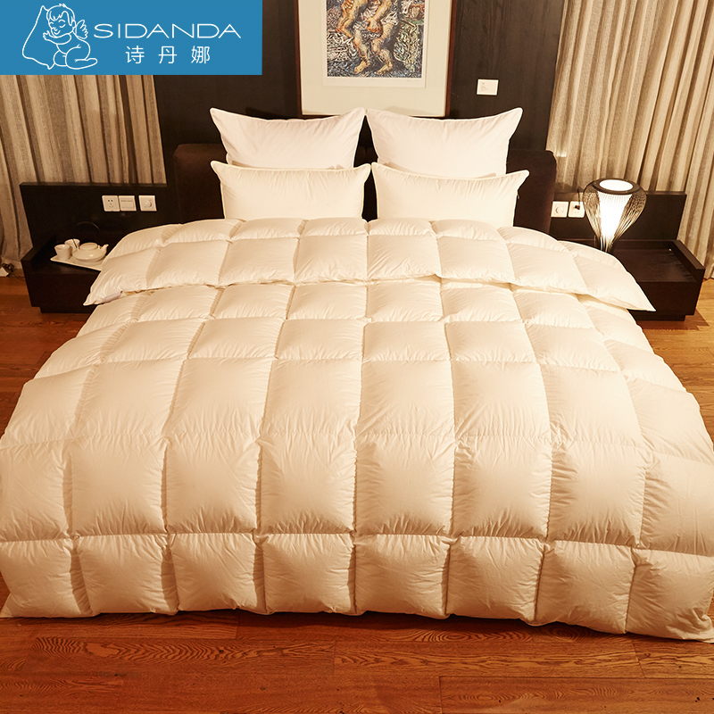 sidanda goose down duvet 90 eiderdown top quality feather comforter bedding white comforter. Black Bedroom Furniture Sets. Home Design Ideas