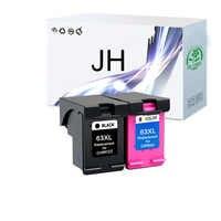 JingHuang 2PK 63 63XL cartuchos de tinta para HP 63XL Deskjet serie 1110, 1112, 2130, 2131, 2132, 2133, 2134, 3630 impresora
