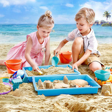 Children's Soft Plastic Beach Toys Children's Play Sand Tools Baby Shower Ducklings Play Set Children's Play Beach Toys