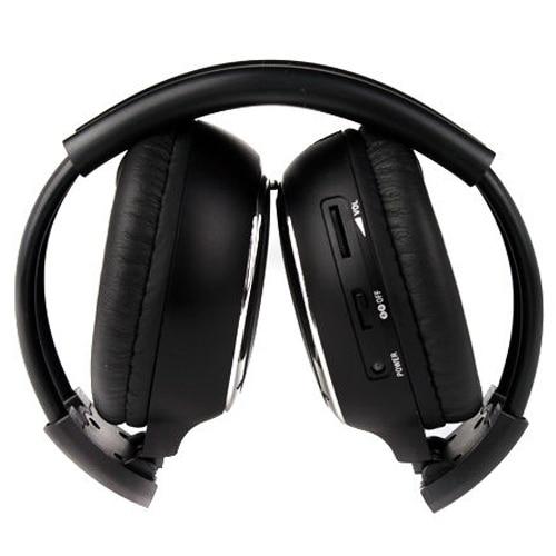 MAHA Hot 1 pcs/2 pcs Double Infrared Stereo Wireless Earphone Headphone Headset IR Car DVD Player Black