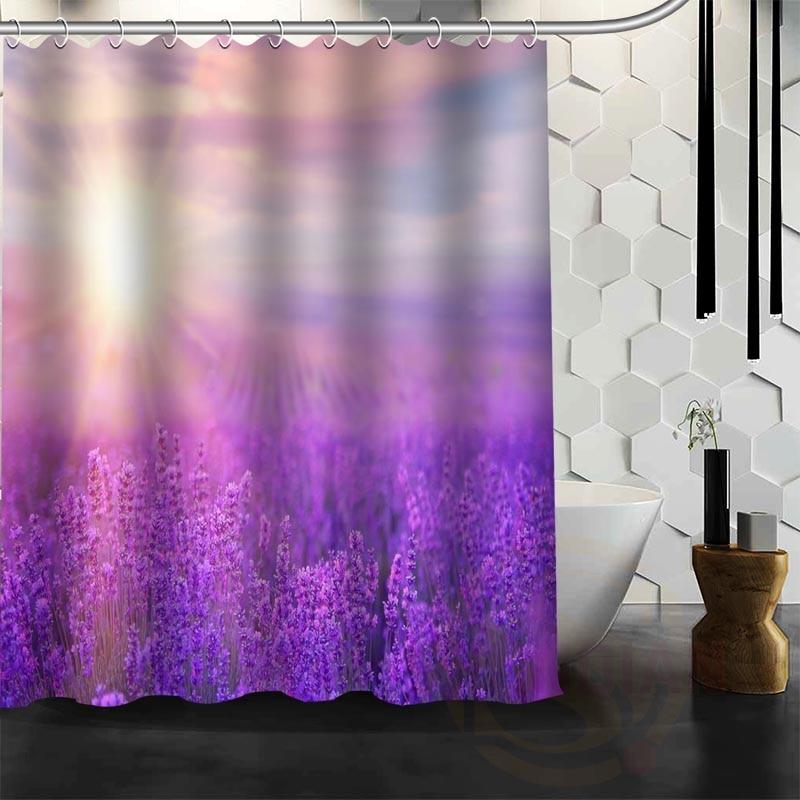 Best Nice Custom Purple lavender Shower Curtain Bath Curtain ...
