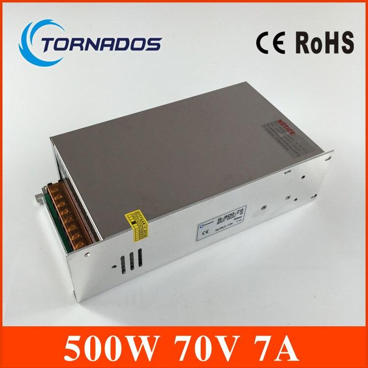 Professionnel DC Alimentation 70 V 7A 500 w Led Pilote Transformateur SMPS pour machine De Gravure, laser machine de découpe
