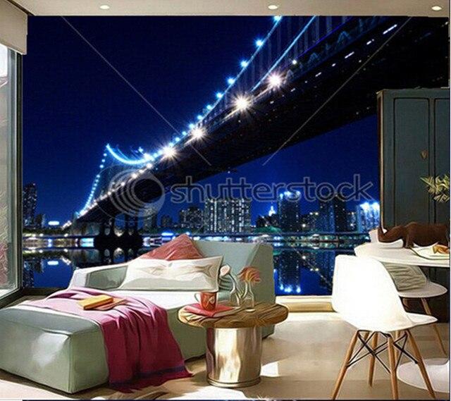 Benutzerdefinierte 3D wandbilder, New York City Skyline und ...