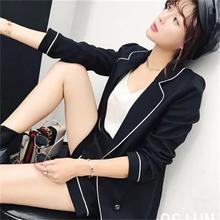 الأزياء بدلة الصغيرة عبق الرياح السراويل سترة النسائية الجديدة عارضة الأزياء قطعتين