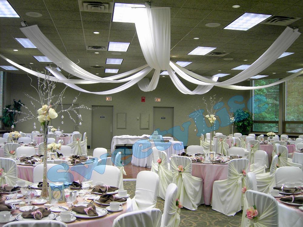mariage 10 peas plafond drap canopy draperie pour dcoration de mariage tissu 07 m 8 - Drap Mariage Plafond