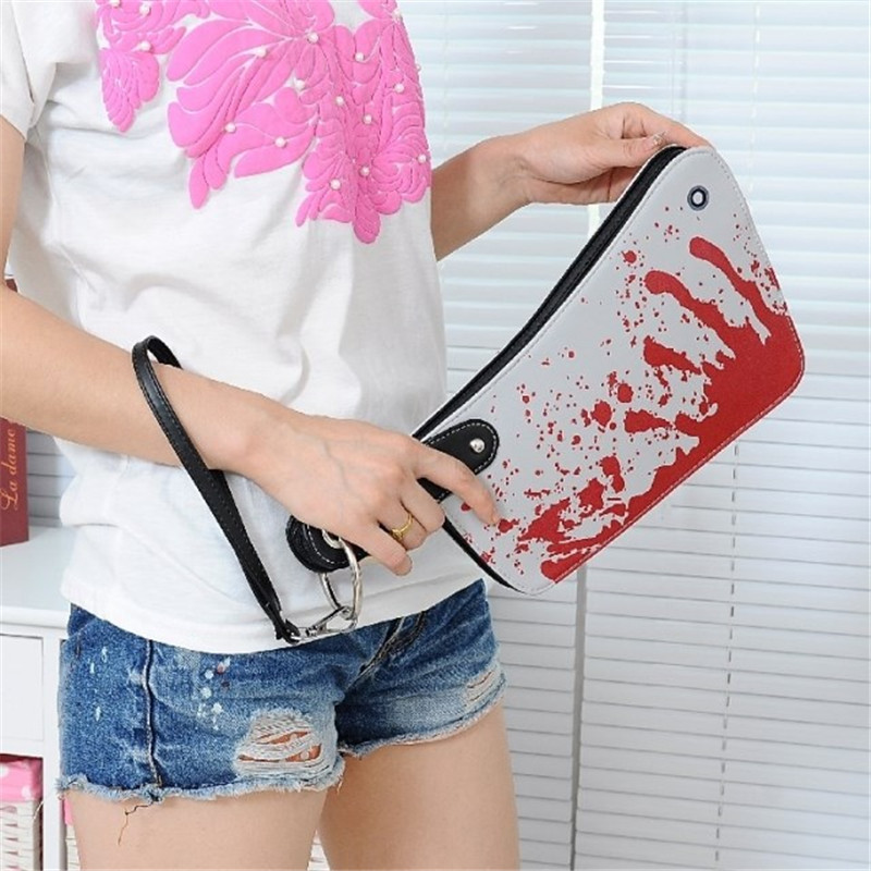 Funny Knife Shape Handbag Creative Unique Kitchen Knife Shape Canvas Clutches Female