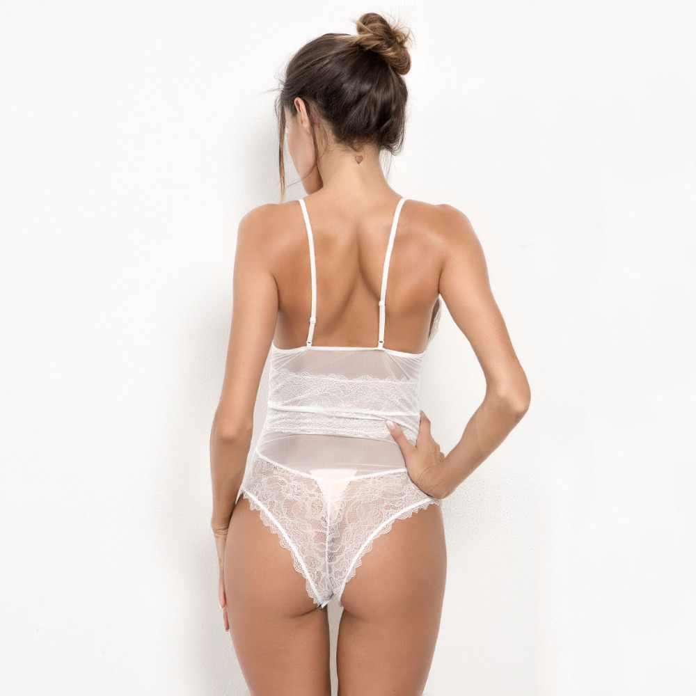 Сексуальные кружевные белые боди для женщин с глубоким v-образным вырезом черные летние, пляжные, без рукавов сексуальные боди 2018 тонкий Cami боди для женщин