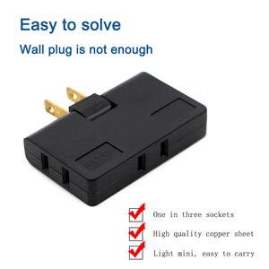 Image 4 - Convertidor uno en tres, rotación de 180 grados, enchufe de extensión, enchufe múltiple, Mini salida inalámbrica delgada, toma de luz de adaptador de viaje