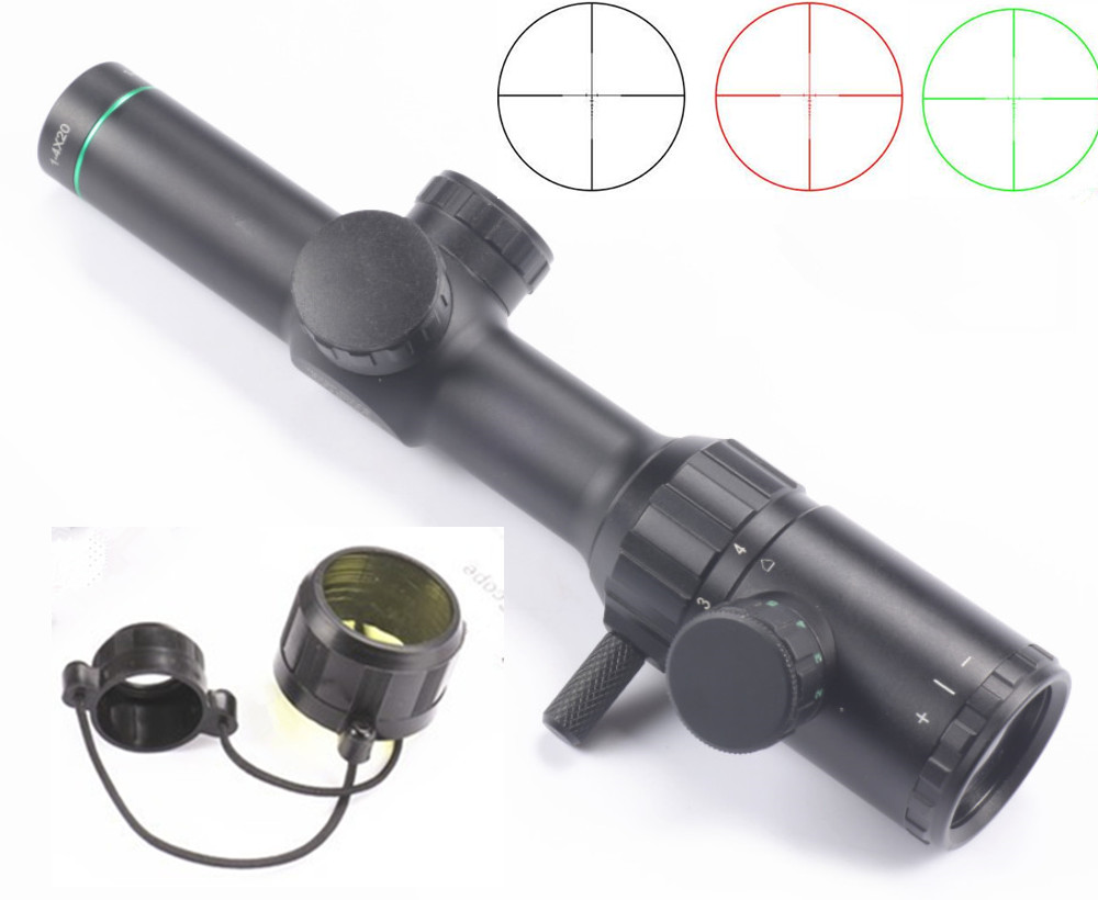 Hunting Sight Rifle scope 1 4x20 Range Finder Reticle Hunting scope Green Red Illuminated optical sight Rifle Scope Sight Caza