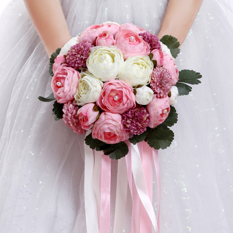 Beautiful June Wedding Flowers Arrangements: 2018 Beautiful Pink White Wedding Flowers Bridal Bouquets