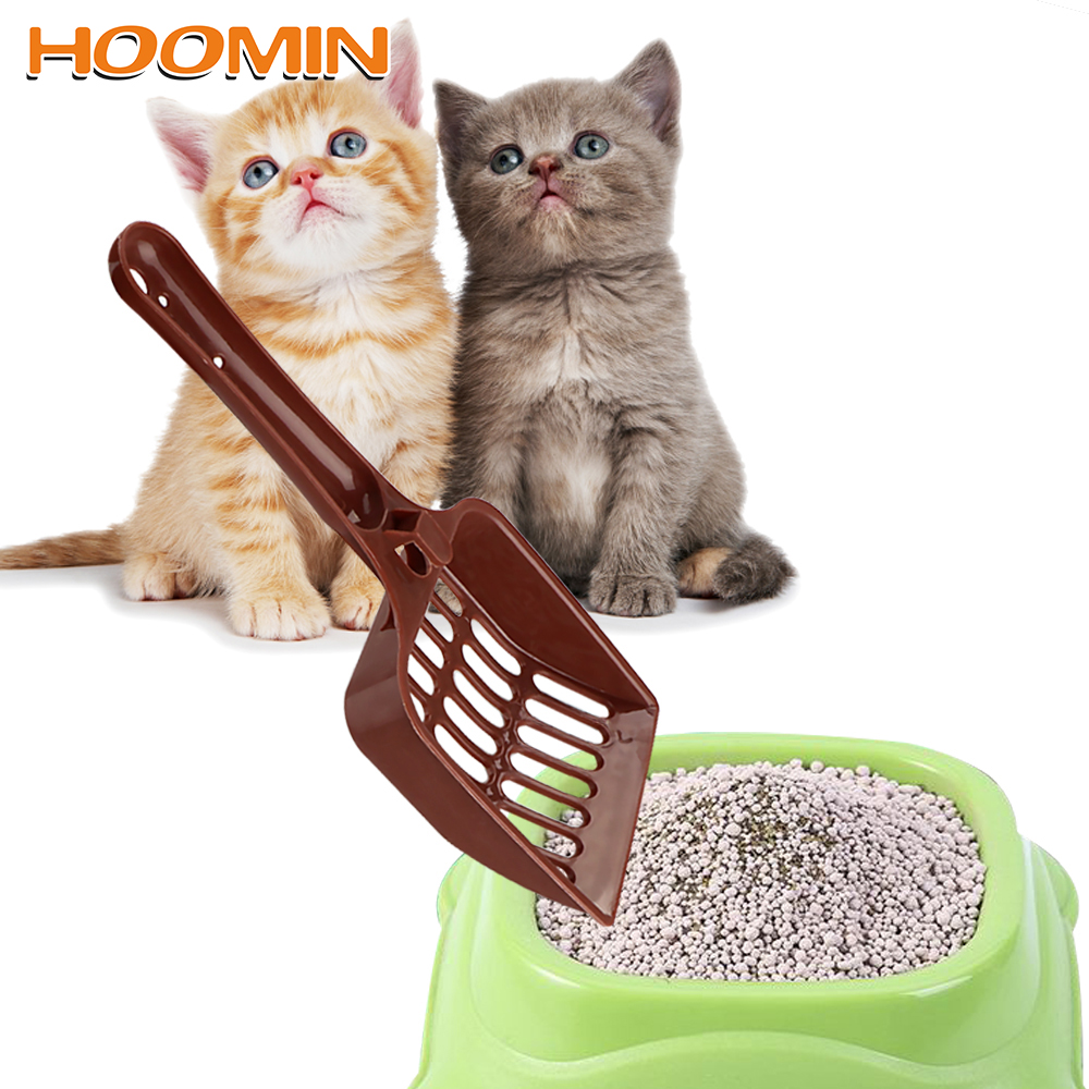 HOOMIN Dog Cat Litter Shovel Plastic Scoop Pet Cleanning Tool Universal Scoop Random Color Pet Supplies