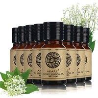 AKARZ Famous brand value sets Sandalwood Rosemary Jasmine Osmanthus Clary Sage Verbena Orange Lemon essential Oils 10ml*8