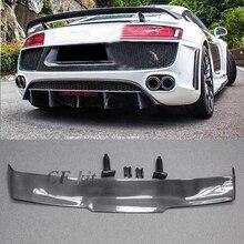 CF Kit GT Wings спойлер для Audi R8 PPI бритва настоящие Углеродные оптоволоконные разделители гоночные части 2008- автостайлинг