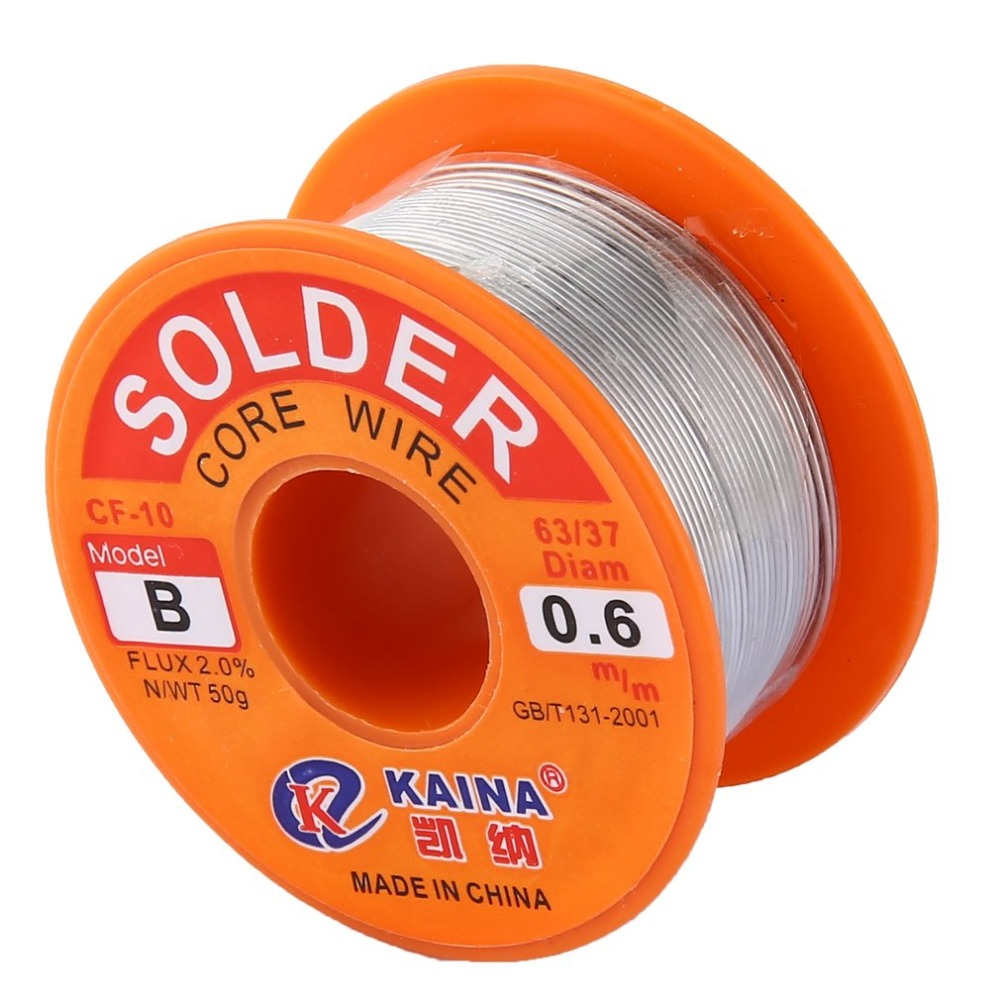 0.6mm 2% Flux Tin Lead Rosin Roll Core Silver Solder Wire Welding Soldering Repairing Tool Reel Melt Kit Electric Melting