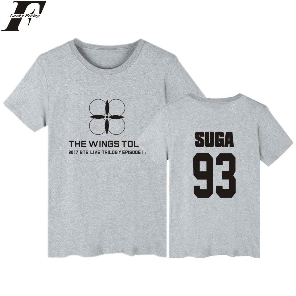 Kpop BTS Tshirt Men and Women Cotton Short Sleeve Casual Summer Tee Shirts Womens Korean Popular Bangtan Funny T Shirts 4XL