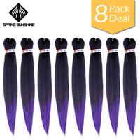 Spring sunshine Synthetic Braiding Hair 24 EZ Jumbo Braids Hair Ombre Crochet Braiding Hair Easy Braid Hair Extension