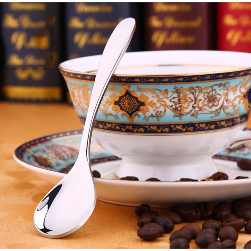 Exquisite Swan Rack Coffee Spoons Restaurant Spoons Elegant Tableware Stainless Steel Practical Cake Dessert Snack Spoons Set-in Spoons from Home u0026 Garden ... & Exquisite Swan Rack Coffee Spoons Restaurant Spoons Elegant ...