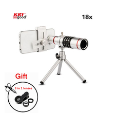 Universal mobile phone telescope 18x optical zoom camera lens fisheye lens for iPhone7 Samsung s7 edge
